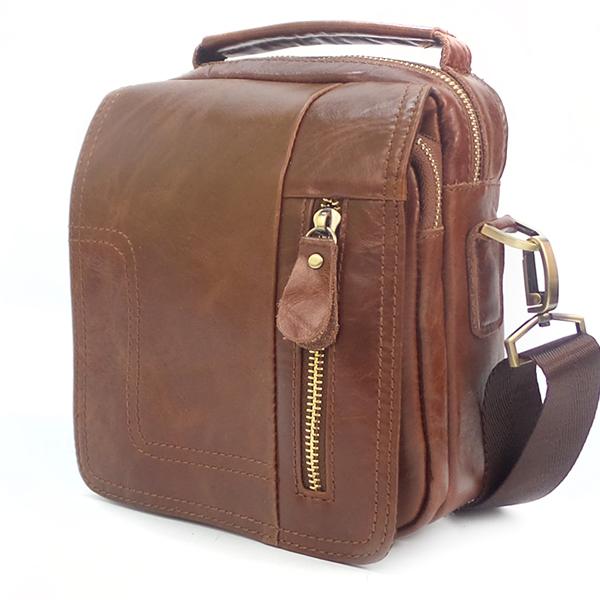 Мужская сумка Borgo Antico. Кожа. 020 oil palm