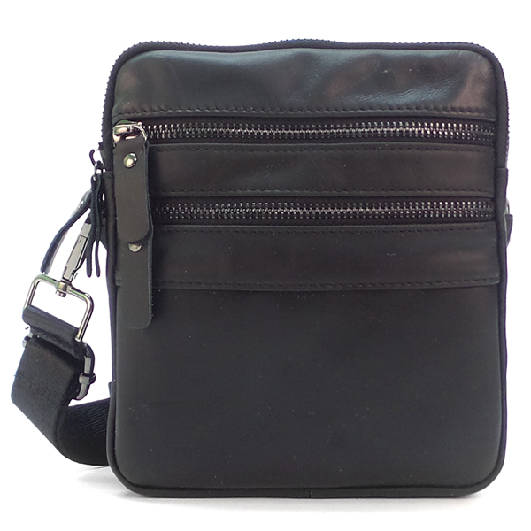 Мужская сумка Borgo Antico. Кожа. 042 black