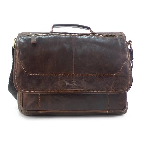 Мужская сумка Ruff Ryder. Кожа. 1497-1 d. brown