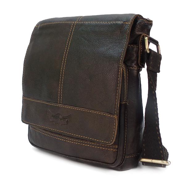 Мужская сумка Ruff Ryder. Кожа. 1650/3904-1# brown