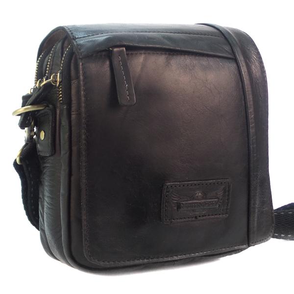 Мужская сумка Ruff Ryder. Кожа. 1708 black