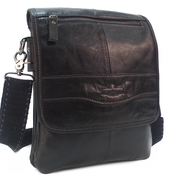 Мужская сумка Ruff Ryder. Кожа. 1716 black