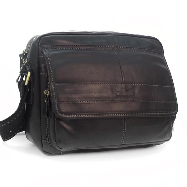 Мужская сумка Ruff Ryder. Кожа. 1728 black