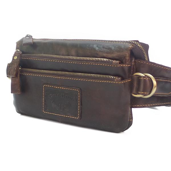 Мужская сумка Ruff Ryder. Кожа. 1825 d.brown