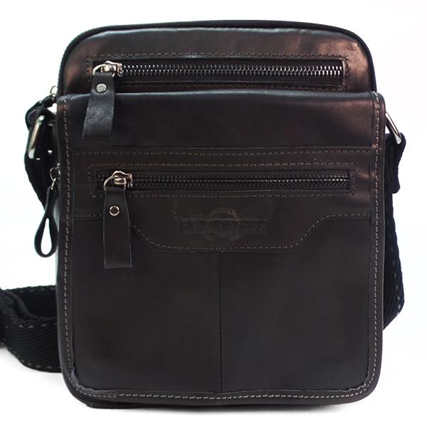 Мужская сумка Ruff Ryder. Кожа. 1857/1125-1 black