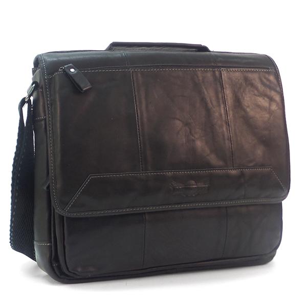 Мужская сумка Ruff Ryder. Кожа. 1858 black