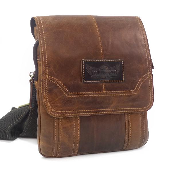 Мужская сумка Ruff Ryder. Кожа. 1913 brown