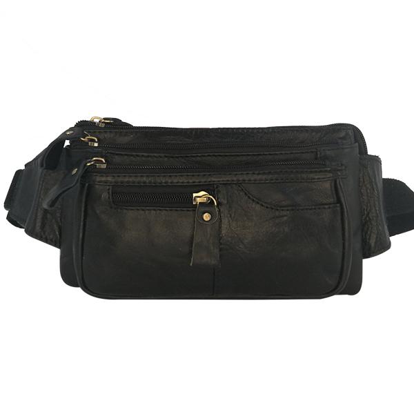 Поясная сумка Borgo Antico. Кожа. 2012/673 black