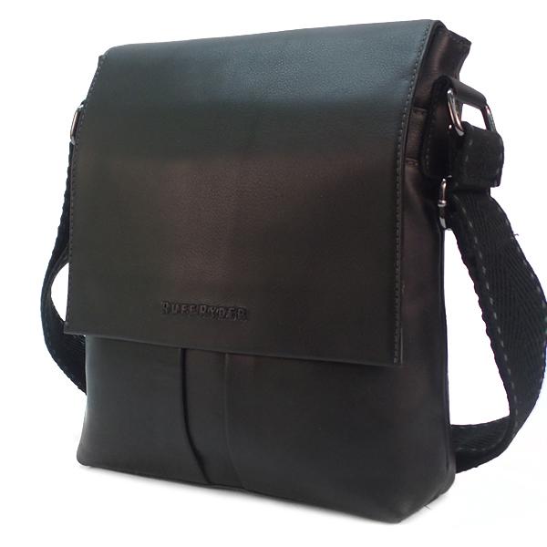 Мужская сумка Ruff Ryder. Кожа. 2025 black