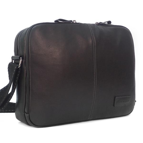 Мужская сумка Ruff Ryder. Кожа. 2046 black