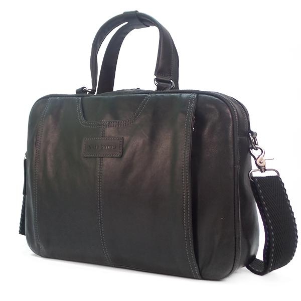Мужская сумка Ruff Ryder. Кожа. 2048 black