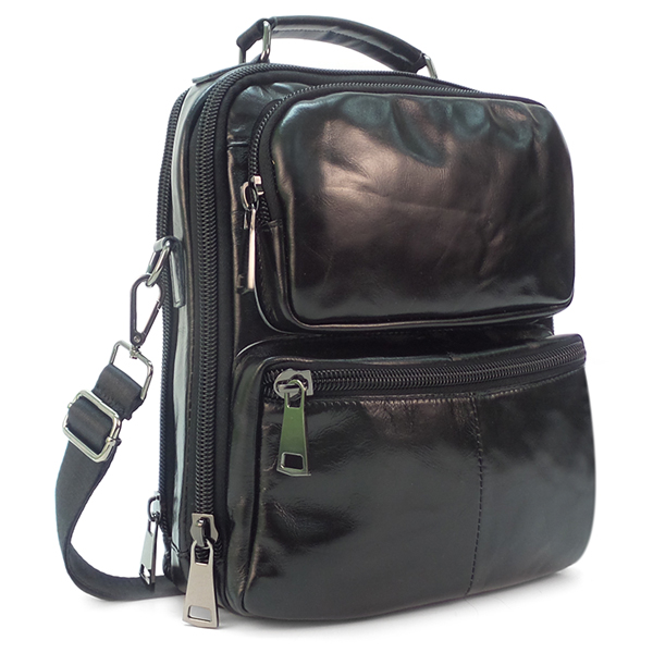 Мужская сумка Borgo Antico. Кожа. 20859 black