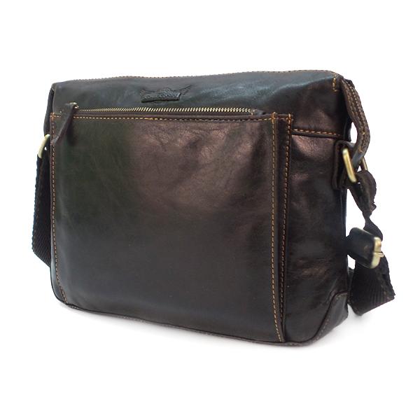 Мужская сумка Ruff Ryder. Кожа. 2103/3990 d.brown