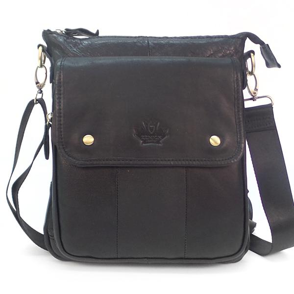 Мужская сумка Zznick. Кожа. 2303 black