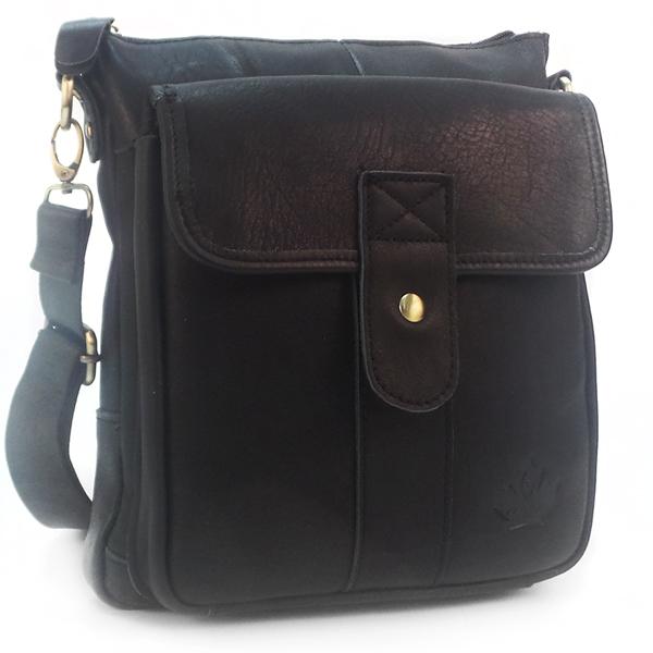 Мужская сумка Zznick. Кожа. 2308/2303 black