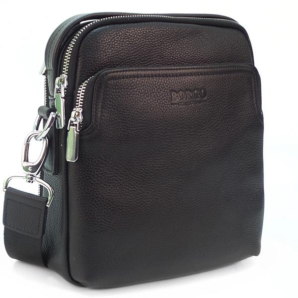 Мужская сумка Borgo Antico. Кожа. 3619 black