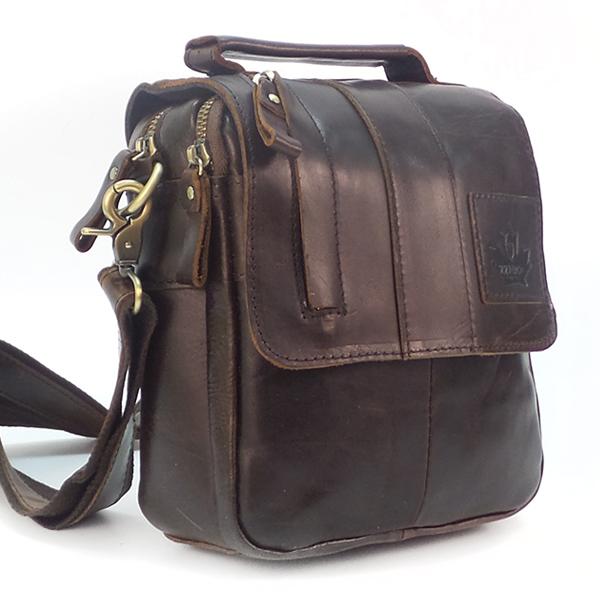 Мужская сумка Zznick. Кожа. 3712 coffee