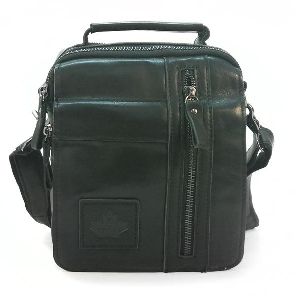 Мужская сумка Zznick. Кожа. 3713 black
