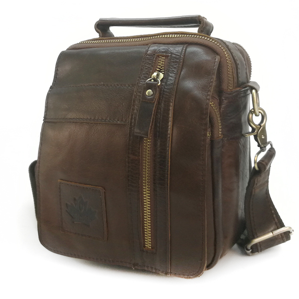 Мужская сумка Zznick. Кожа. 3713 coffee
