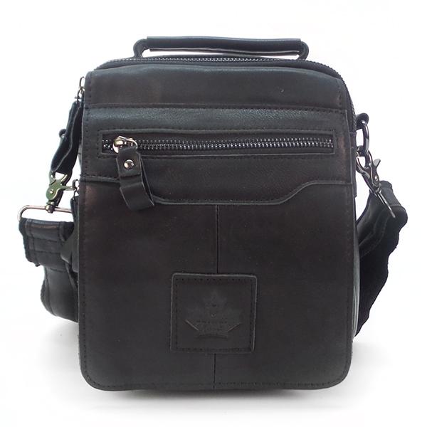 Мужская сумка Zznick. Кожа. 3716 black