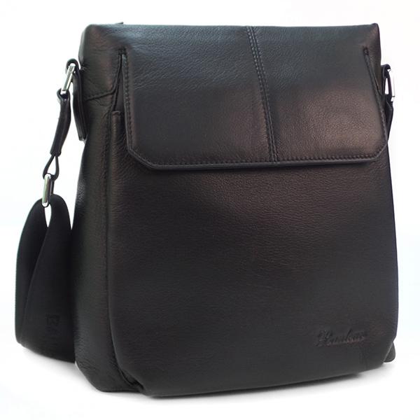 Мужская сумка. Кожа. 3866-4 black