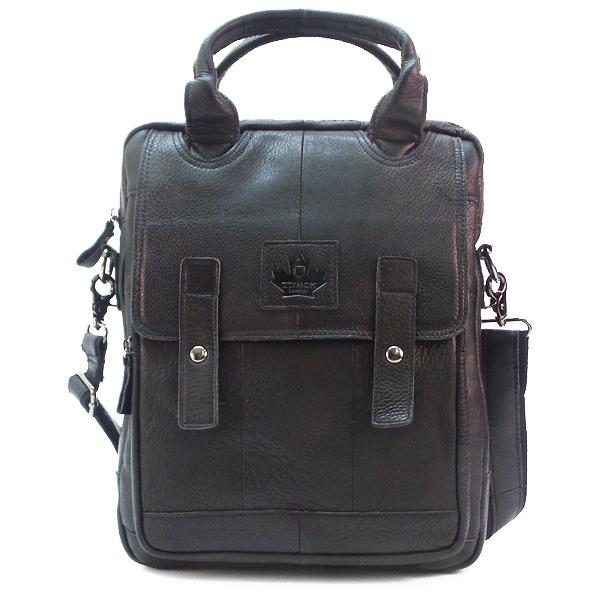 Мужская сумка Zznick. Кожа. 3888 black