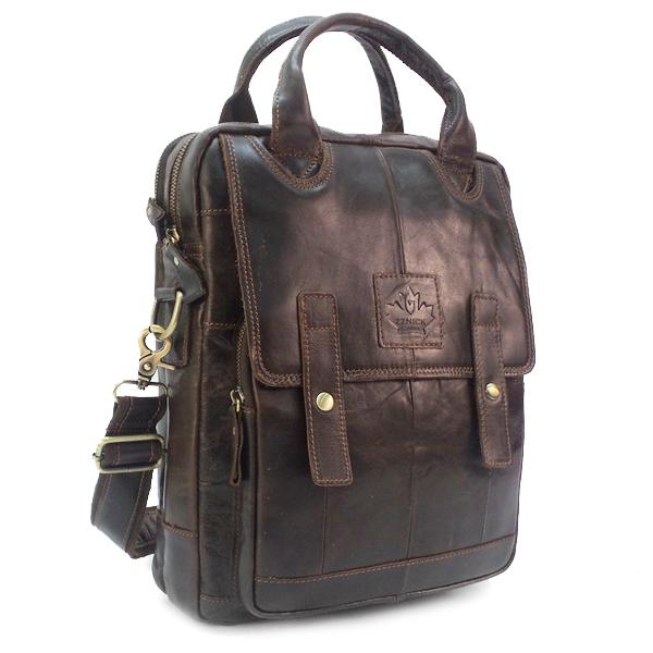Мужская сумка Zznick. Кожа. 3888 coffee