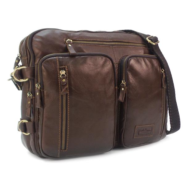 Мужская сумка Ruff Ryder. Кожа. 3905-1 coffee