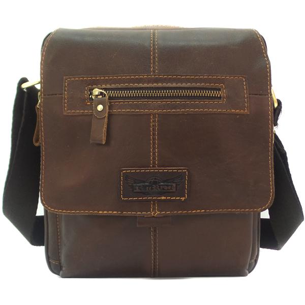 Мужская сумка Ruff Ryder. Кожа. 3990 brown
