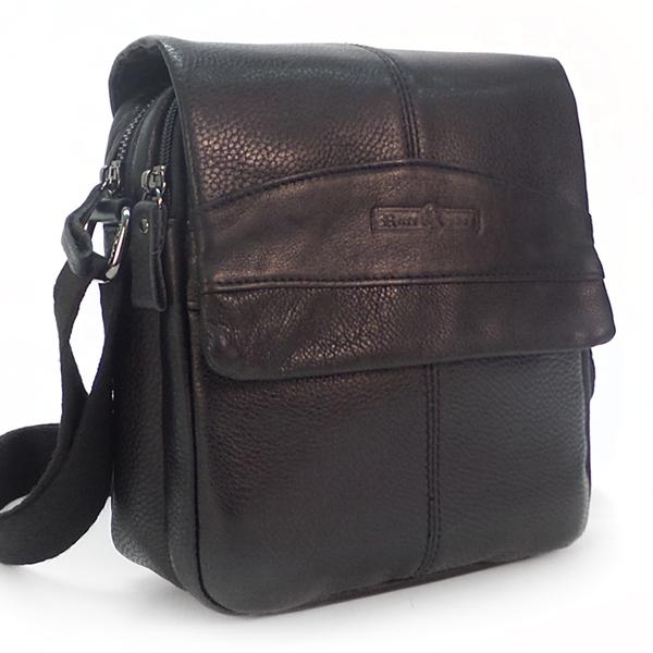 Мужская сумка Ruff Ryder. Кожа. 5022 black