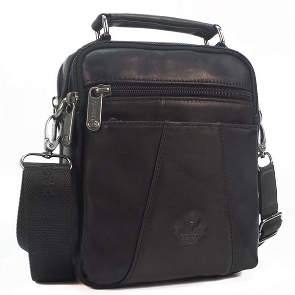 Мужская сумка Zznick. Кожа. 5102 black
