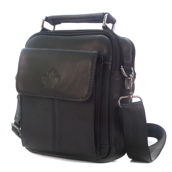 Мужская сумка Zznick. Кожа. 5106 black