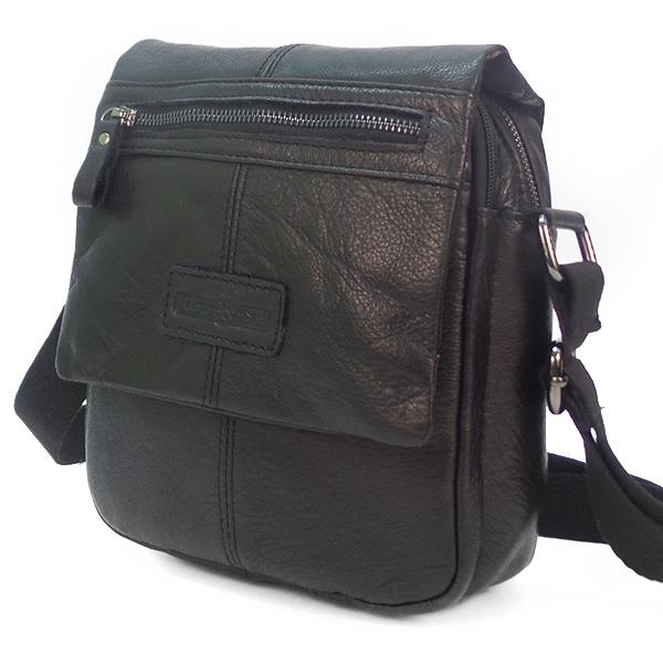 Мужская сумка Ruff Ryder. Кожа. 5450 black