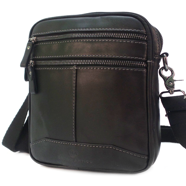 Мужская сумка Borgo Antico. Кожа. 5506/8118 black BA