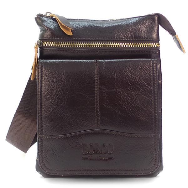 Мужская сумка Borgo Antico. Кожа. 8135 coffee