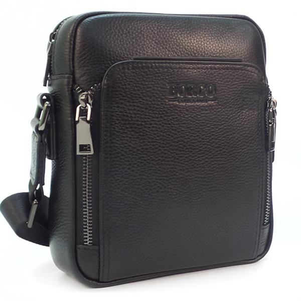 Мужская сумка Borgo Antico. Кожа. 86009 black