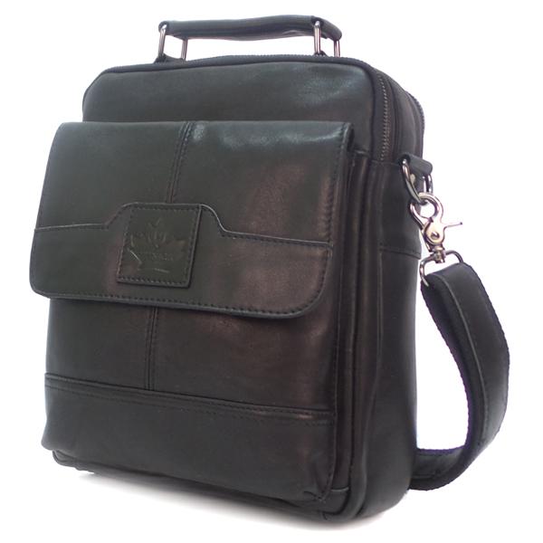Мужская сумка Zznick. Кожа. 8802 black