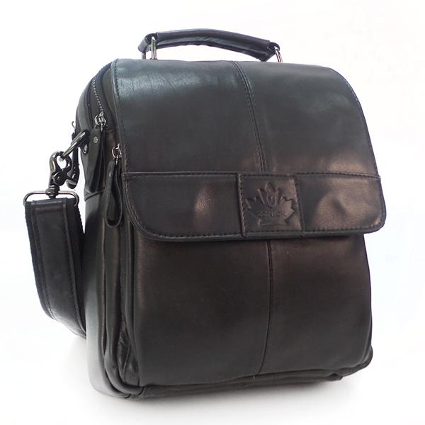 Мужская сумка Zznick. Кожа. 8808 black