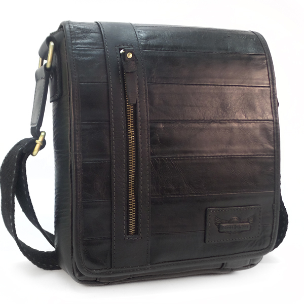 Мужская сумка Ruff Ryder. Кожа. 881957 black