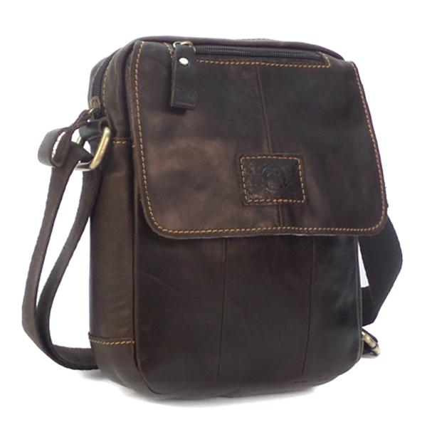 Мужская сумка Ruff Ryder. Кожа. 9006-1 brown