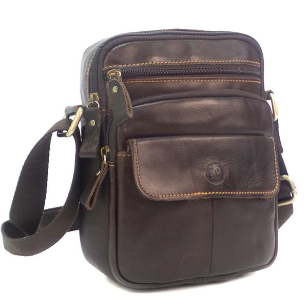 Мужская сумка Ruff Ryder. Кожа. 9018-1 brown