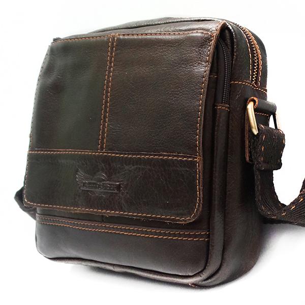 Мужская сумка Ruff Ryder. Кожа. 1651-1/1697 brown/coffee