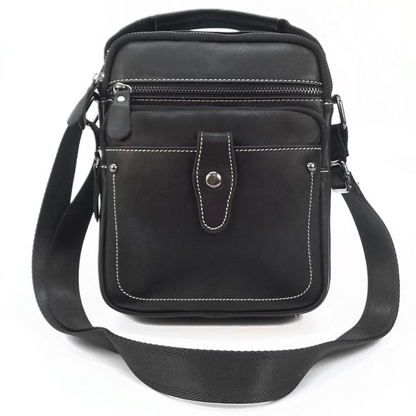 Мужская сумка Borgo Antico. Кожа. 020 black # (NN)