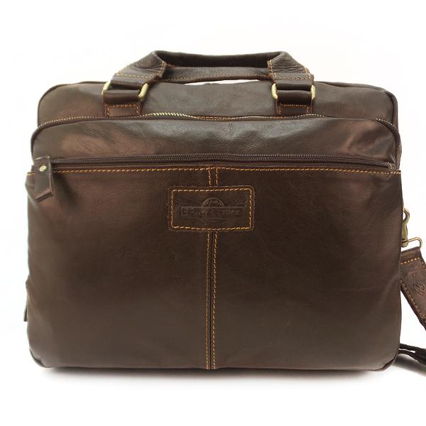 Мужская сумка Ruff Ryder. Кожа. 1126 d. brown