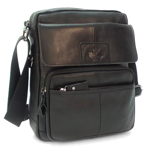 Мужская сумка Zznick. Кожа. 1210 black