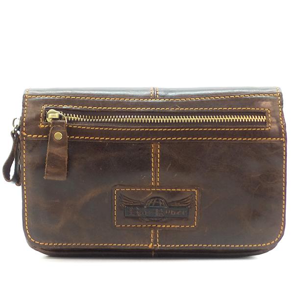 Поясная сумка Ruff Ryder. Кожа. 1347-1 d. brown