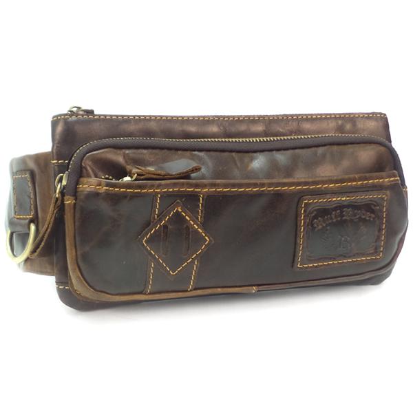 Поясная сумка Ruff Ryder. Кожа. 1393-2 d.brown