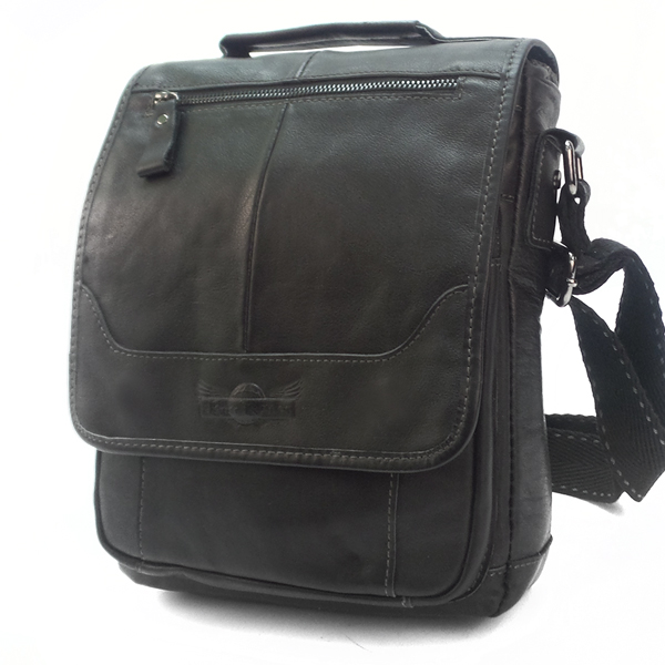 Мужская сумка Ruff Ryder. Кожа. 1660 black