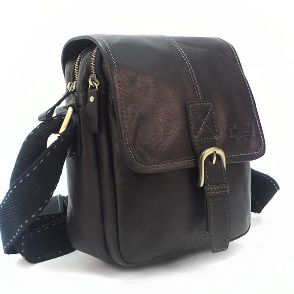 Мужская сумка Ruff Ryder. Кожа. 1733 black