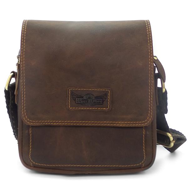 Мужская сумка Ruff Ryder. Кожа. 1831-1 d. brown